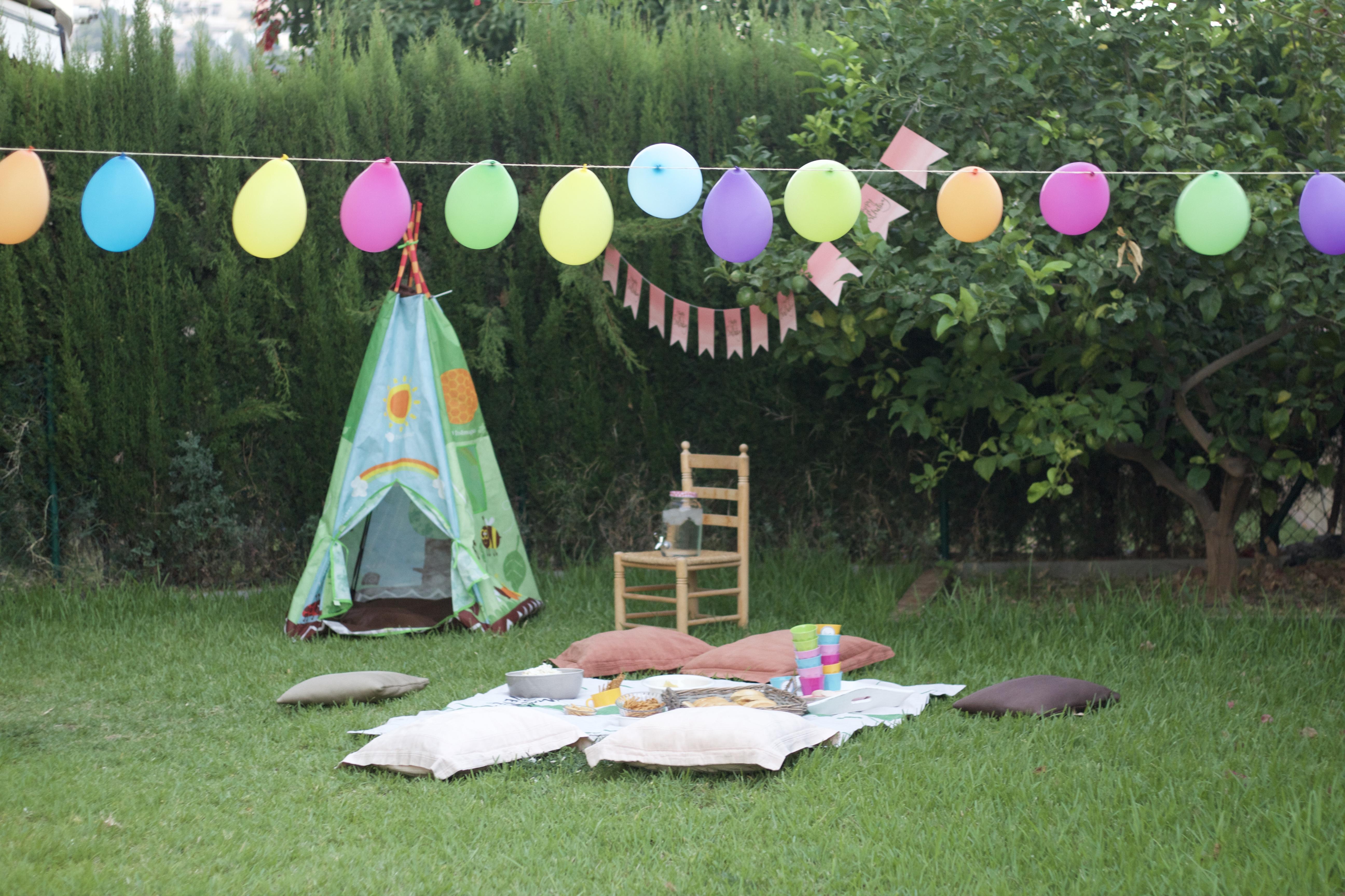 Un picnic para una fiesta de cumpleaños